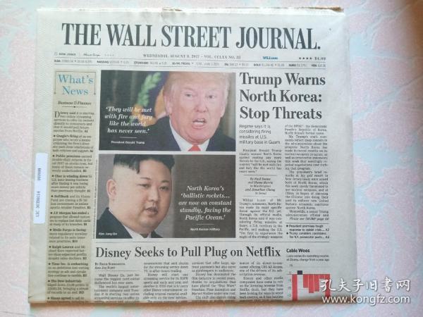 THE WALL STREET JOURNAL 华尔街日报 2017/08/09   外文原版报纸