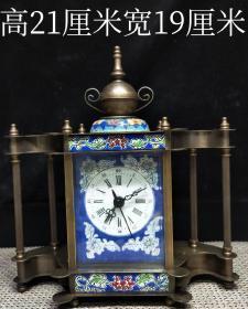 海外回流珐琅彩座钟表