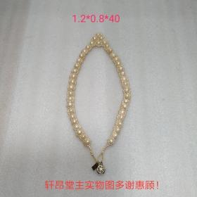 皇冠形 珍珠项链(扣坏的)