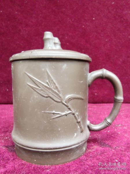 竹纹紫砂杯