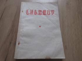 罕见大文革时期32开本《毛泽东思想万岁》-尊D-4
