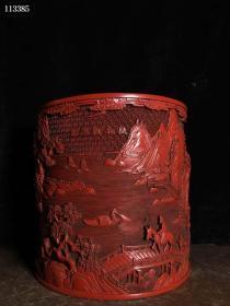古玩收藏漆器大笔筒一件B