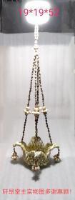 海南三亚纪念品:天然小海螺编织、百合花形的吊篮