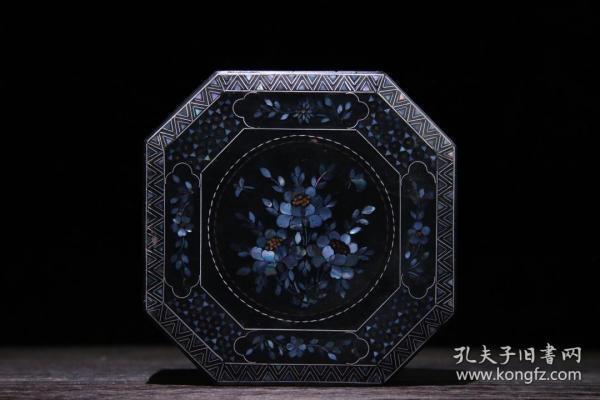 螺钿漆器首饰盒  重113克