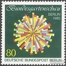 德国邮票 西柏林 1985年 联邦德国园艺展 徽志 1全新