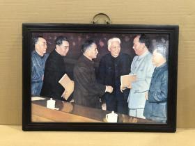 瓷板画六大伟人 高47厘米 宽67厘米