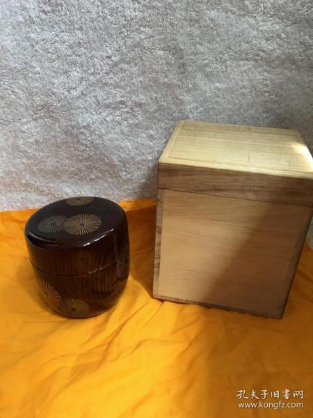 日本回流漆器 茶入 茶粉盒Q3原装木盒