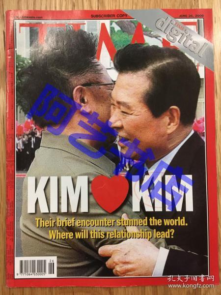 【现货】时代周刊杂志(亚洲版) Time Magazine, 2000年,朝韩友好,珍贵史料,.