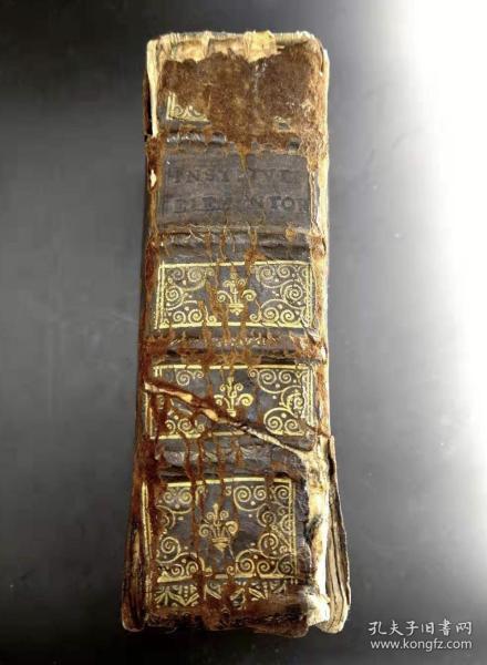 后摇篮本1544年西方古籍《InstitutionumsiveElementorumDJustinianilibriquatuor》
