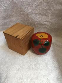 日本回流漆器  茶入 茶粉盒Q1