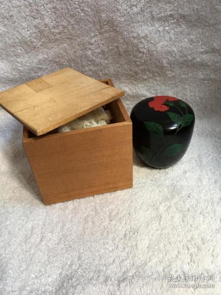 日本回流漆器 茶入 茶粉盒Q2原装木盒
