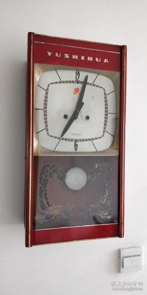 宝石花挂钟机械钟表15天报时钟表