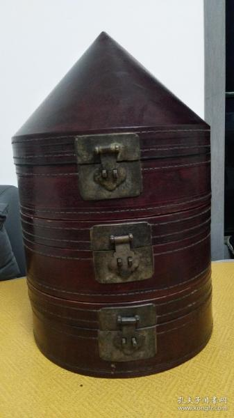 清代漆器官帽盒