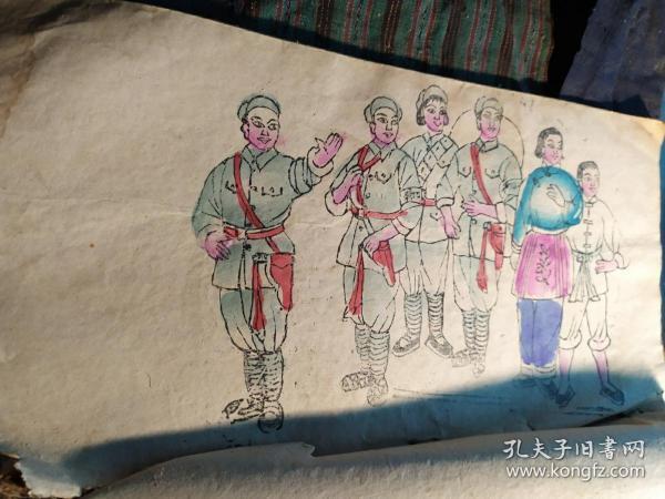 山东曹州木版年画 福本子 文革样板戏(8幅)107号