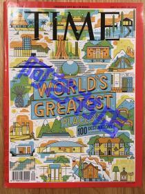 【现货】时代周刊杂志(亚洲版) Time Magazine, 2018年,世界最佳的100个旅游胜地,珍贵史料,.