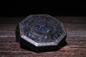 螺钿漆器首饰盒  重102克