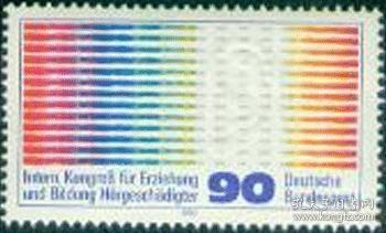 德国邮票 1980年汉堡基督教国际聋哑人教育培训会议 残疾人 1全新