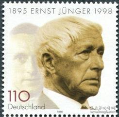 德国邮票 1998年 作家 恩·荣格 1全新 外国邮票