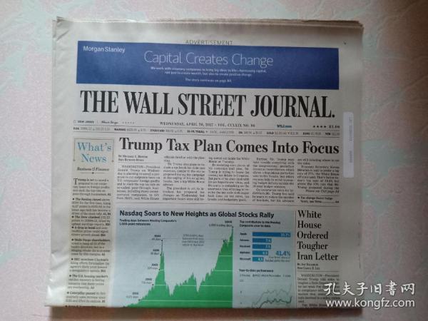 THE WALL STREET JOURNAL 华尔街日报 2017/04/26  外文原版报纸
