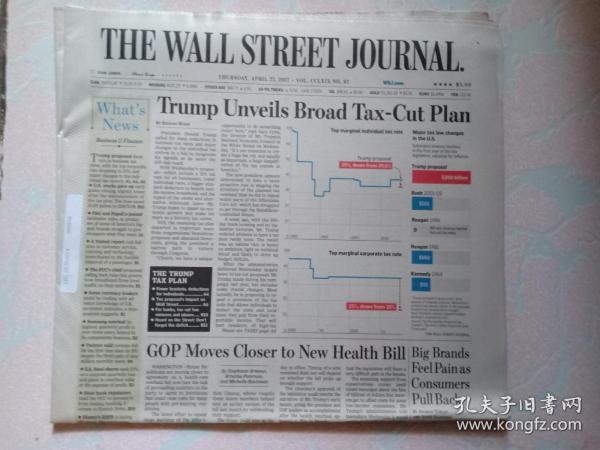 THE WALL STREET JOURNAL 华尔街日报 2017/04/27  外文原版报纸