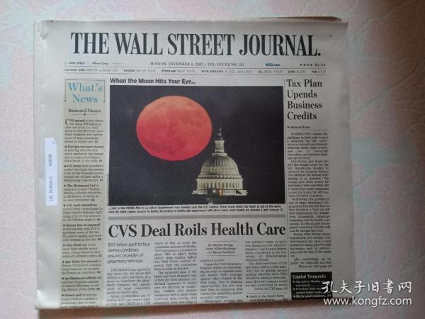 THE WALL STREET JOURNAL 华尔街日报 2017/12/04   外文原版报纸