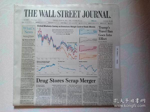 THE WALL STREET JOURNAL 华尔街日报 2017/06/30  外文原版报纸