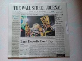 THE WALL STREET JOURNAL 华尔街日报 2017/07/13  外文原版报纸