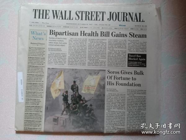 THE WALL STREET JOURNAL 华尔街日报 2017/10/18 外文原版报纸