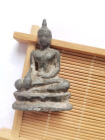 唐宋时期 锡质 释迦牟尼佛 造像 整体 铸造精美 造型端庄 包浆老道 保存完好 存世不多