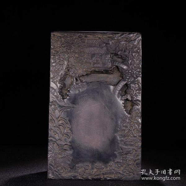 """《旧藏 老端石满工雕""""兰亭序""""砚台一方》"""