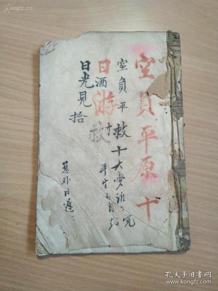 清代或者民国的手抄书籍《空负平原十日游》字写的不错。