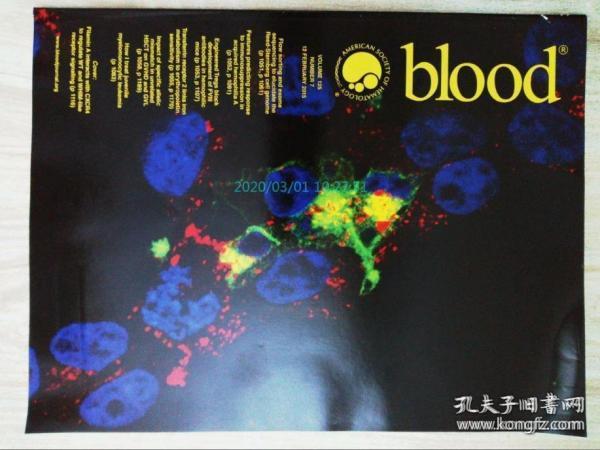 blood AMERICAN SOCIETY OF HEMATOLOGY 2015/02/12 血液医学杂志