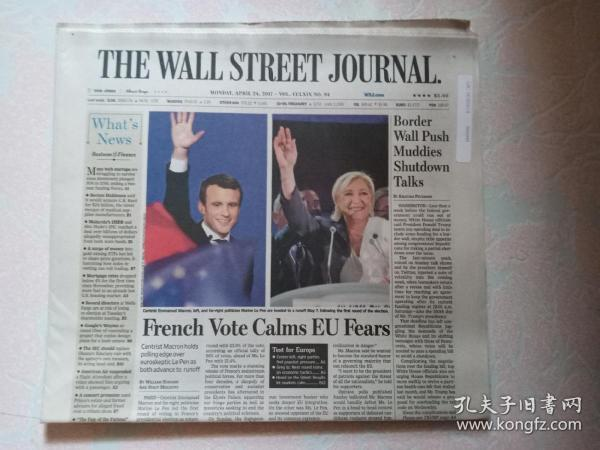 THE WALL STREET JOURNAL 华尔街日报 2017/04/24   外文原版报纸