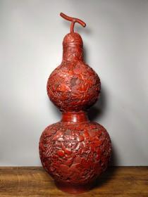 古玩收藏清代剔红漆器葫芦宝瓶多子多福招财福禄葫芦摆件