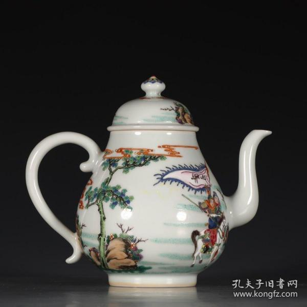 粉彩人物故事茶壶
