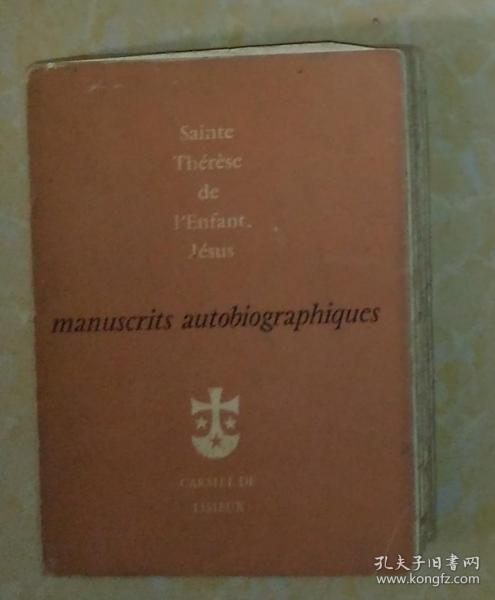 英文原版 Sainte Thérese de L'enfanr Jésus Manuscrits Autobiographiques