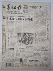 农民日报1994年6月1日(4开四版)深入学习理论正确把握大局加强党的建设。