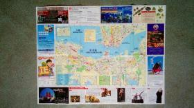 旧地图-东方之珠香港旅游地图(2009年3月/4月)4开85品
