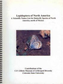 Lepidoptera of North America 4. Scientific Names List for Butterfly Species of North America north of Mexico