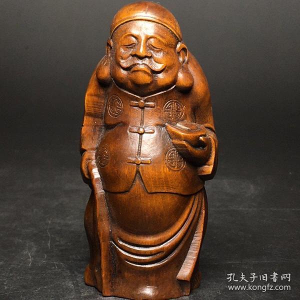 黄杨木雕刻的摆件《老爷子》  #捡漏#包邮#包退#收藏品#古玩#实拍#亏本#保真#