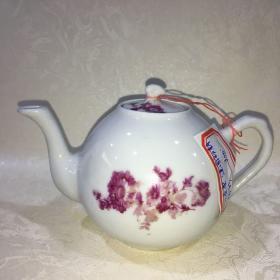 小茶壶建国时期粉彩