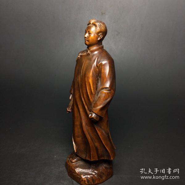 黄杨木雕刻的毛主席  #捡漏#包邮#包退#收藏品#古玩#实拍#亏本#保真#