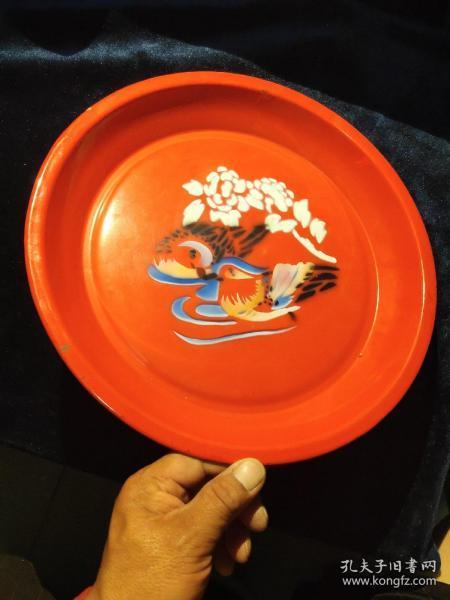 苏州搪瓷厂。搪瓷盘子一个。