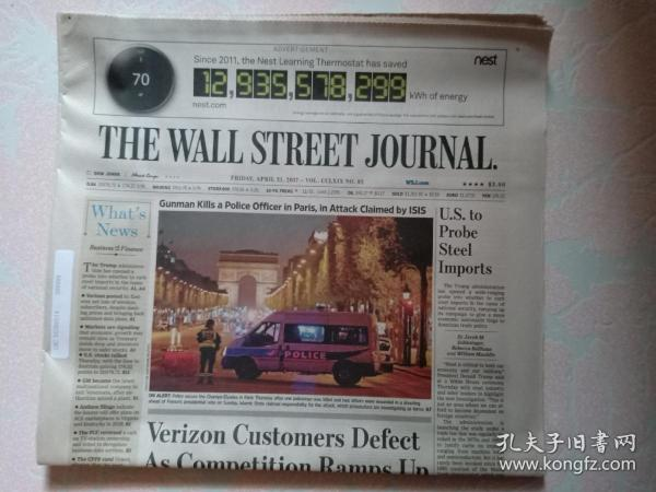 THE WALL STREET JOURNAL 华尔街日报 2017/04/21  外文原版报纸