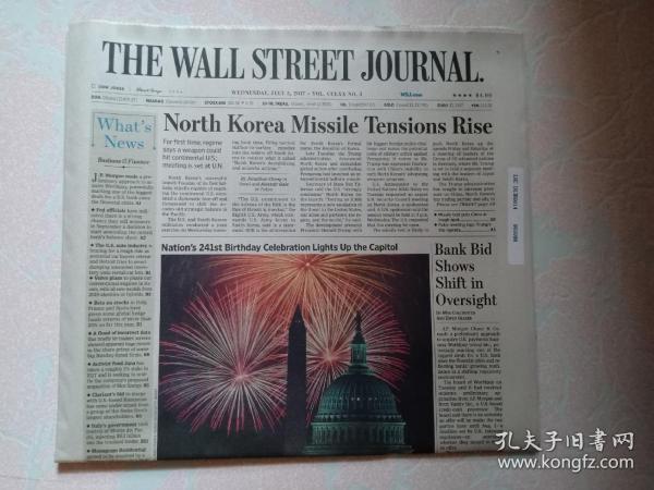 THE WALL STREET JOURNAL 华尔街日报 2017/07/05  外文原版报纸