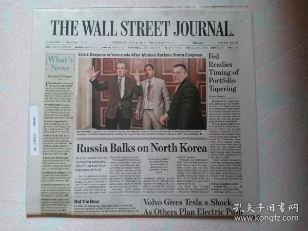 THE WALL STREET JOURNAL 华尔街日报 2017/07/06  外文原版报纸