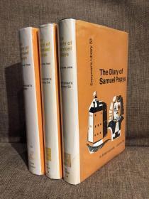 The Diary of Samuel Pepys(《皮普斯日记》,John Warrington编辑版,三卷全,精装,难得全部带护封,1970年老版人人文库,品相一流)