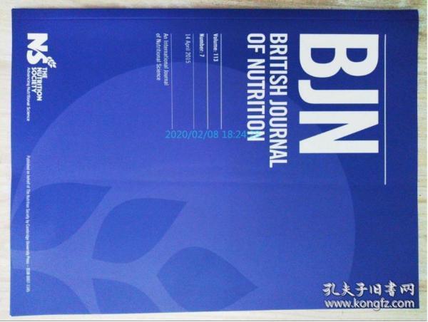BRITISH JOURNAL OF NUTRITION (BJN) 2015/04/14 营养学学术期刊