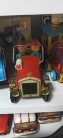 老铁皮玩具  消防车