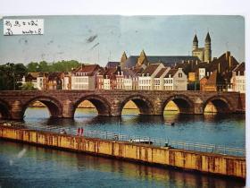 荷兰马士城桥梁老照片(二)明信片。价格运费可协商